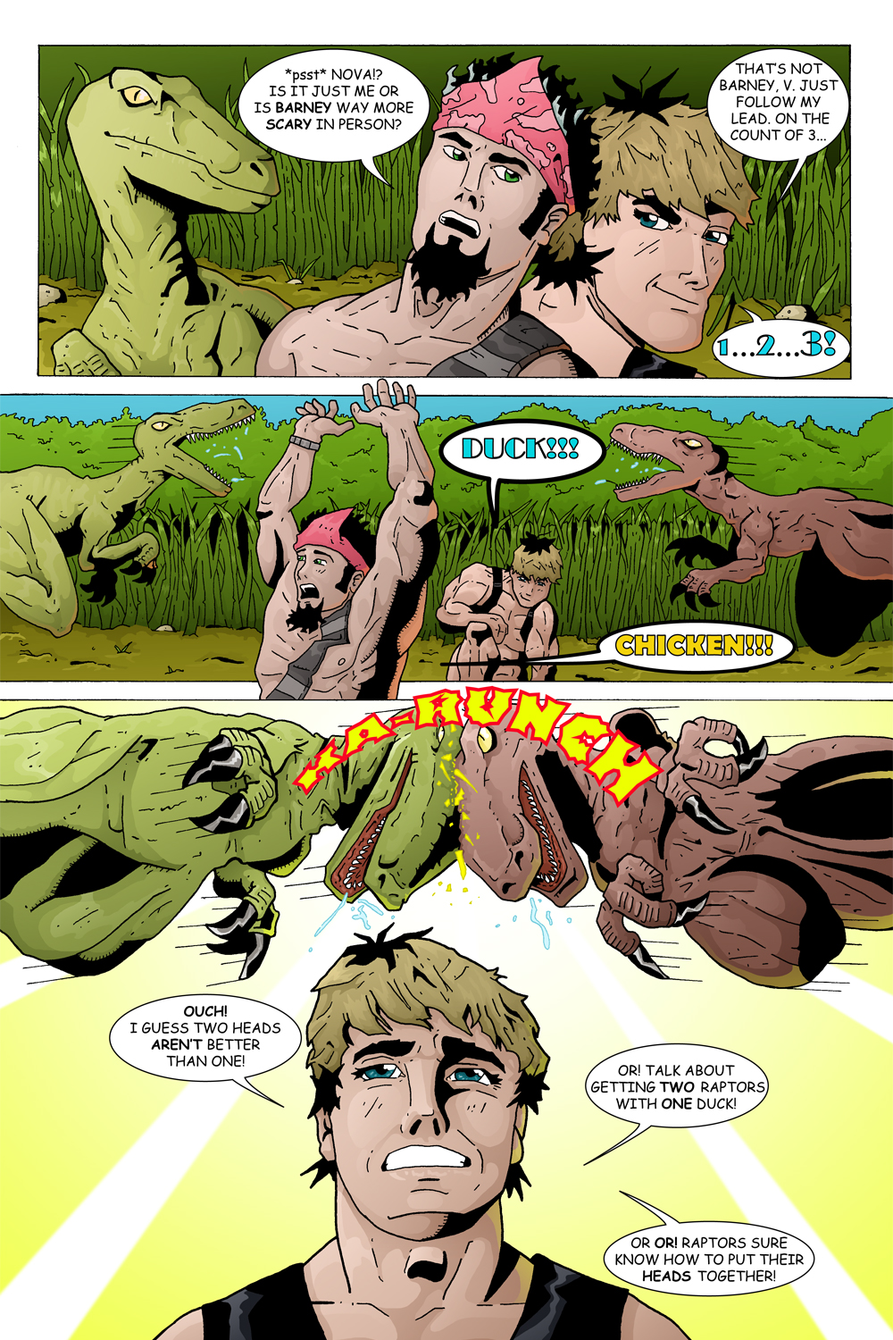 "MISSION 003: PAGE 11 ""TWO RAPTORS WITH ONE DUCK"""
