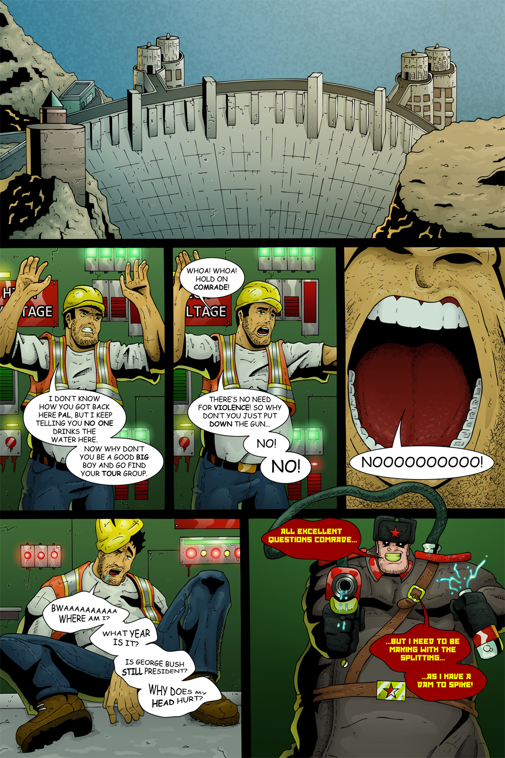 "MISSION 005: PAGE 09 ""MAKING WITH THE SPLITTING"""